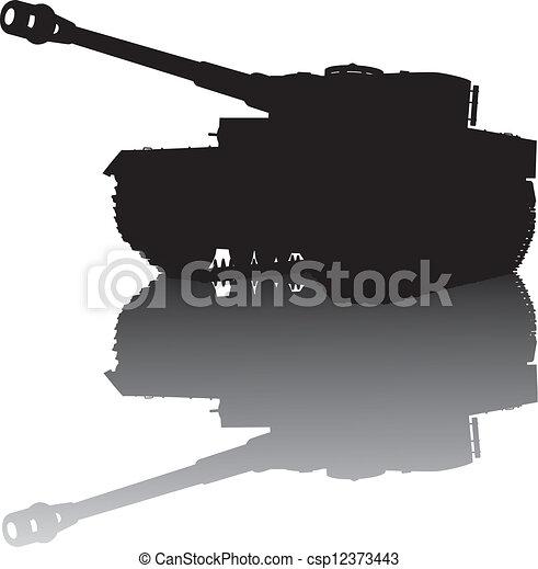 Military silhouette - csp12373443
