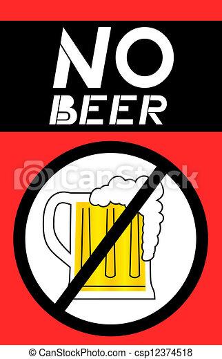 vector clip art of no beer creative design of no beer