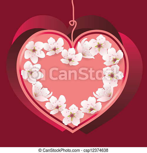 vector heart for valentine's day - csp12374638