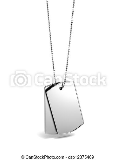 Stock Illustration of Military id tags. Dog tag - Military id tags ...