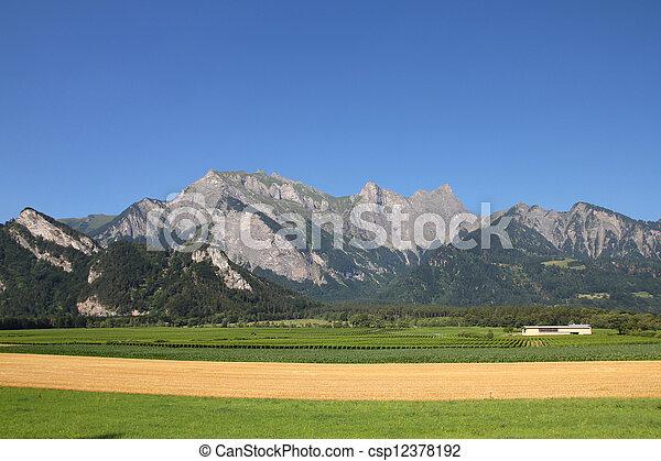 Switzerland agriculture - csp12378192