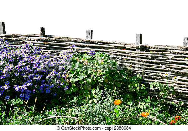 wicker fence - csp12380684