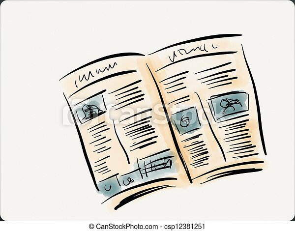 Open Newspaper Clipart Stock Illustrations of...