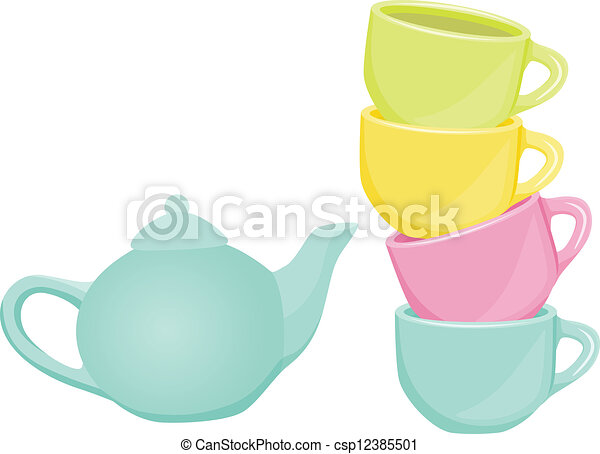 and teapot - Scalable vectorial image... csp12385501 - Search Clip Art ...