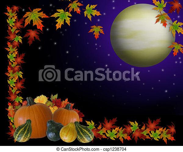 Autumn Harvest Moon Background - csp1238704