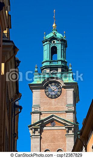 The bell tower of the church of St Nicholas - csp12387829