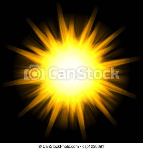 Solar Star Burst - csp1238891