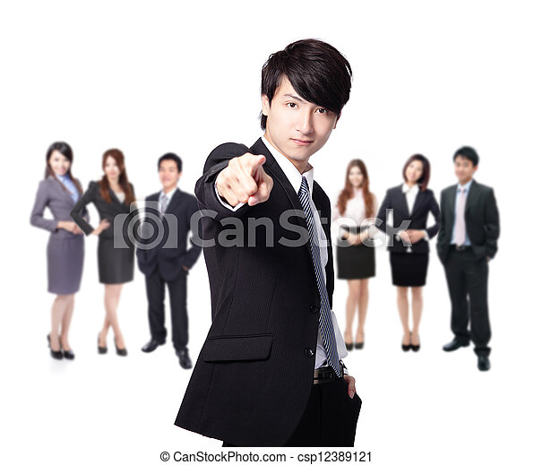 business man finger pointing at you - csp12389121