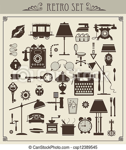 Vintage objects - csp12389545