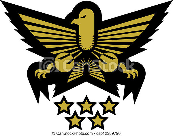 Army Star Logo Army Star Emblem Csp12389790