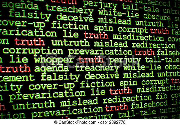 Truth amongst the lies - csp12392778