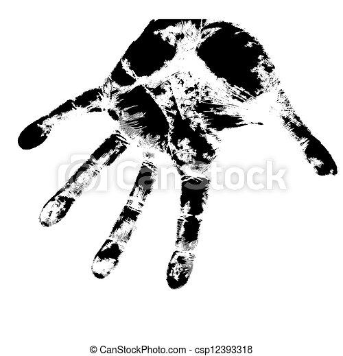 Hand print, skin texture pattern, vector illustration. - csp12393318