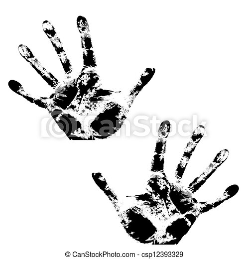 Hand print, skin texture pattern, vector illustration. - csp12393329