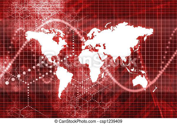 Spreading Worldwide - csp1239409