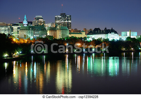 Ottawa at night - csp12394228