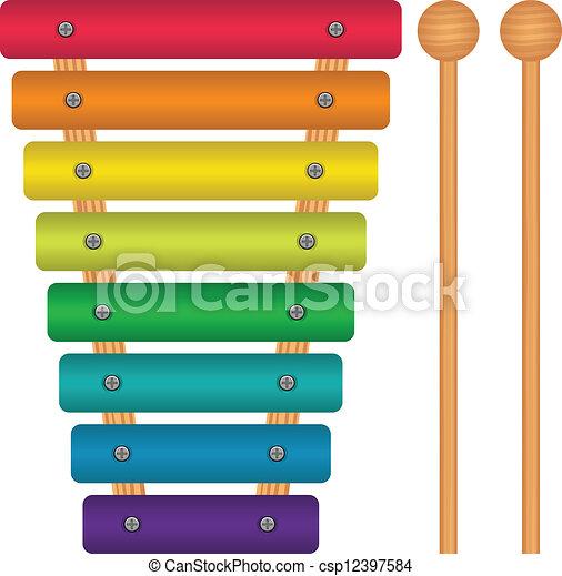 Toy Xylophone - csp12397584
