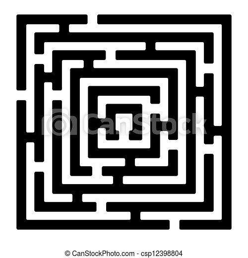 vektor rechteck labyrinth izolated auf wei es. Black Bedroom Furniture Sets. Home Design Ideas