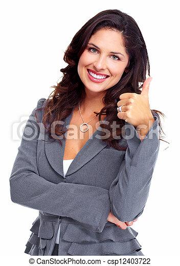 mujer, éxito, empresa / negocio, feliz - csp12403722
