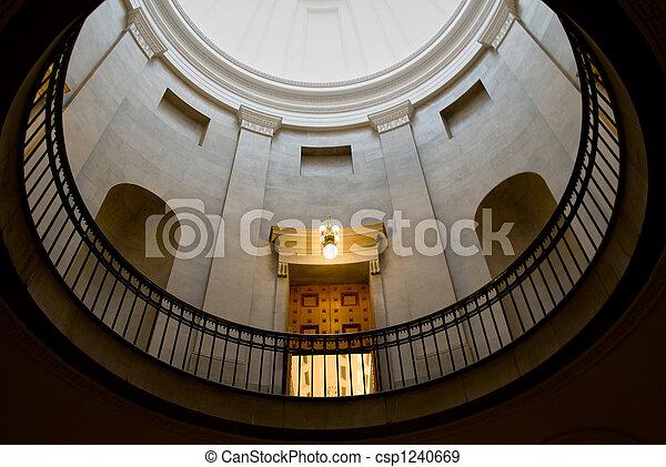 建築物, 圓屋頂, 政府 - csp1240669