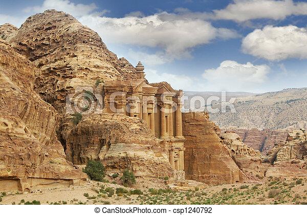 petra, jordan, monastery - csp1240792