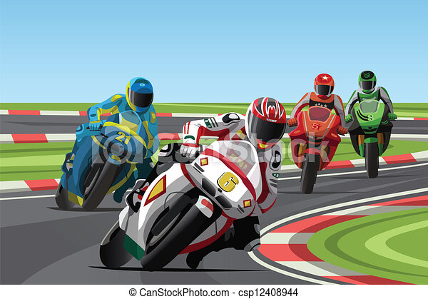 EPS Vector of Motorcycle racing - A vector illustration of ...