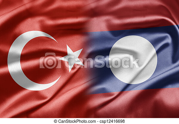 Turkey and Laos - csp12416698