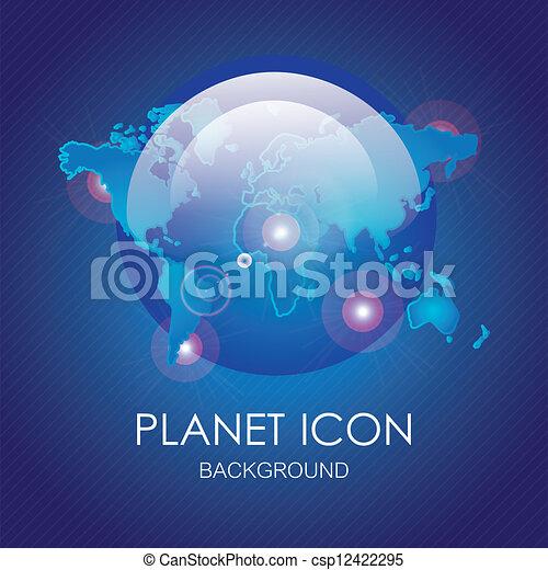 Planet icons - csp12422295