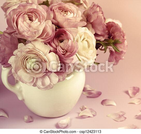 fiori, arte, matrimonio, vacanza, Scheda, disegno - csp12423113