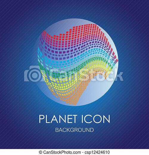 Planet icons - csp12424610