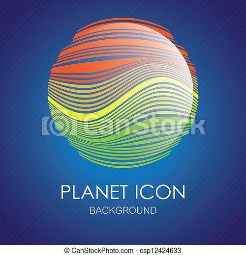 Planet icons - csp12424633