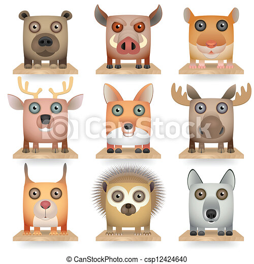 Forest Animals - csp12424640