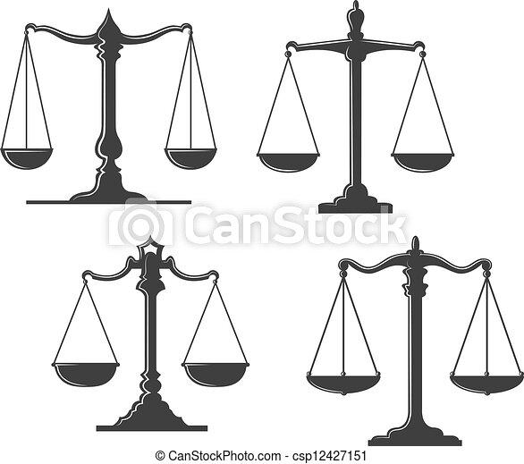 Vintage justice scales - csp12427151