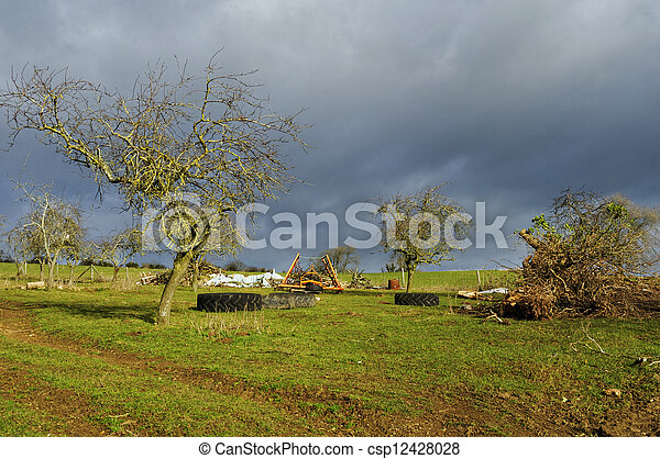 Rural landscape in winter - csp12428028