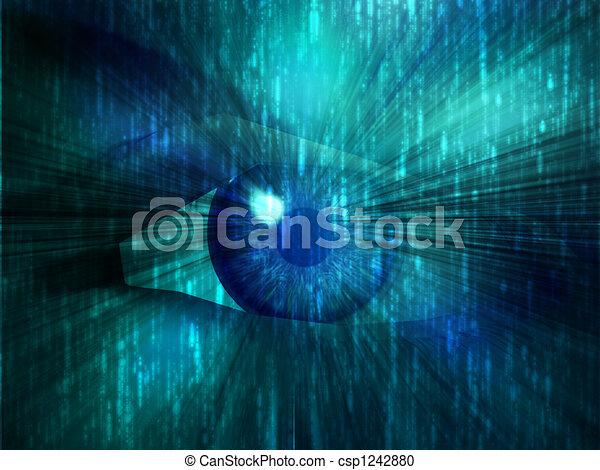 Electronic eye illustration - csp1242880