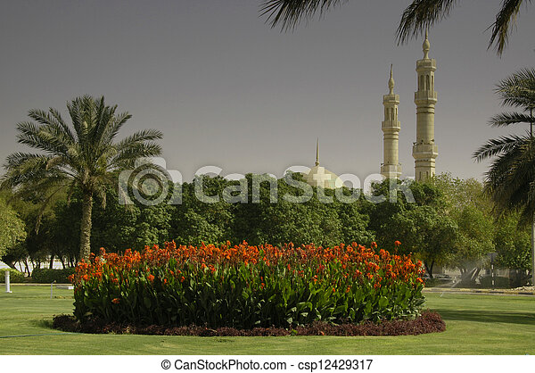 Stock photography of roundabout in al ain lilies growing for Diwan roundabout al ain
