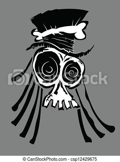 Voodoo Skull - csp12429675Voodoo Skull Drawing