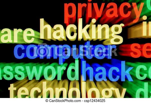 Computer hacking - csp12434025