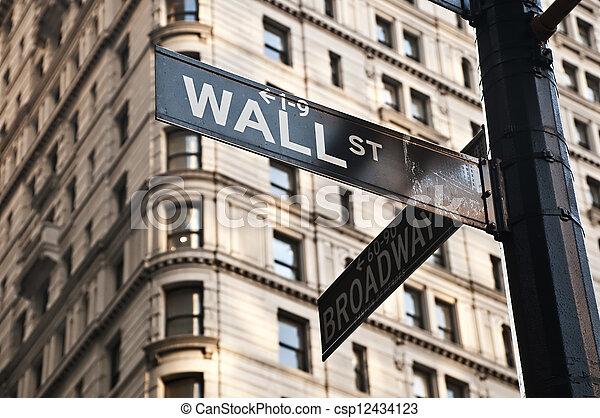 Wall Street sign - csp12434123