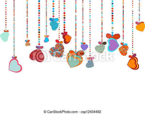 Valentines Day Background. EPS 8 - csp12434492