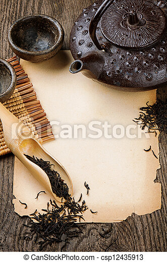 stock fotografie von rahmen mit asiatisch teekanne. Black Bedroom Furniture Sets. Home Design Ideas