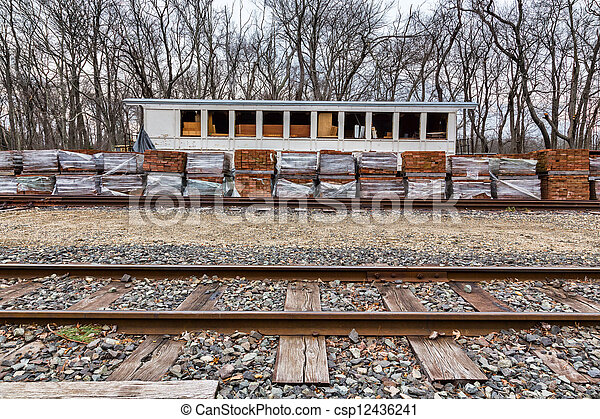 Old, Historic Train Station - csp12436241