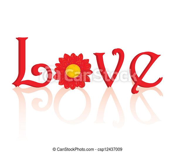 valentine day background. Vector illustration. - csp12437009