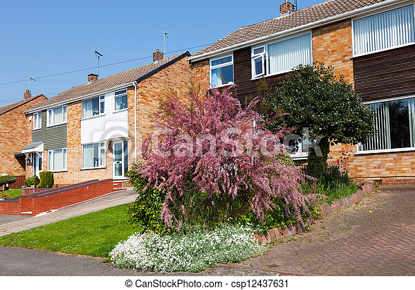 Typical english residential estate - csp12437631