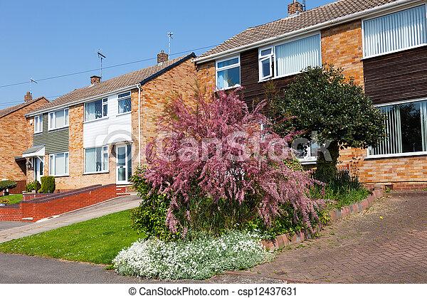 Typical english residential estate  - csp12437631