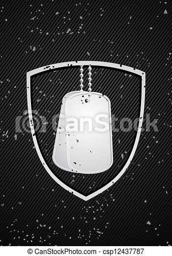 military dog tags - csp12437787