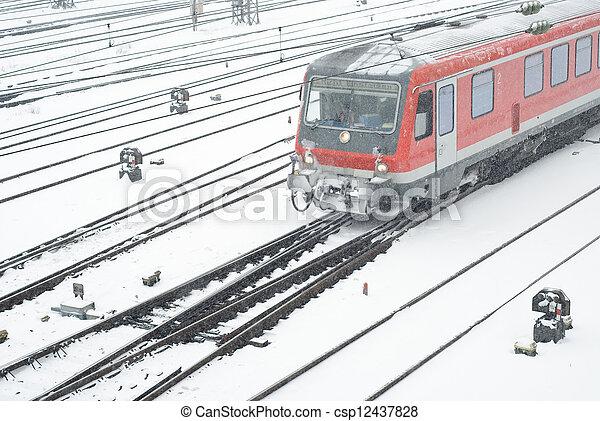 Public Transportation in Winter - csp12437828