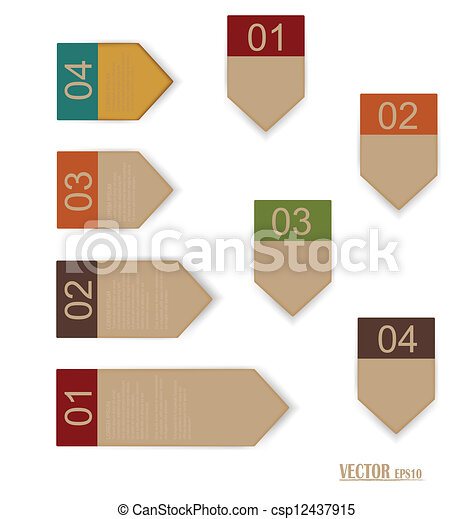 Set of labels with place for text. Vector illustration. - csp12437915