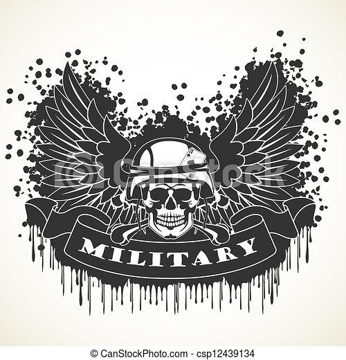 Military symbol - csp12439134