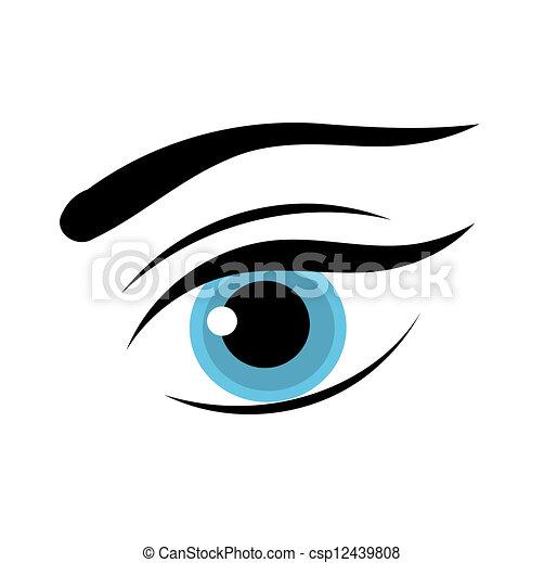 Vector Clipart of Blue female eye - Beautiful blue woman ...