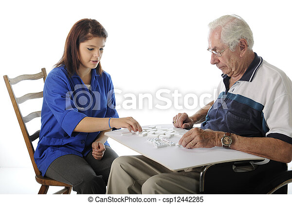 Playing Games with the Elderly - csp12442285